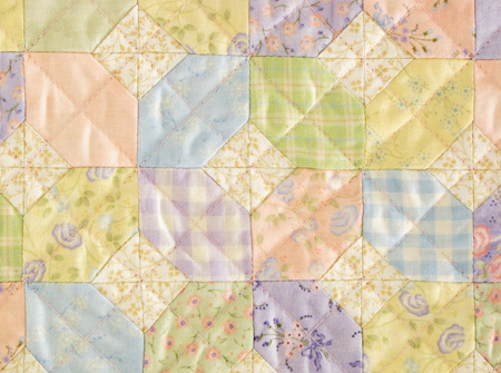 Coming Home Whispers in the Wind Sandy Gervais Mini Quilt Close Up
